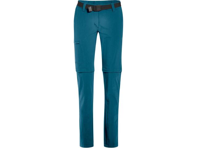 Maier Sports Inara Slim Pantaloni con zip Donna, petrolio